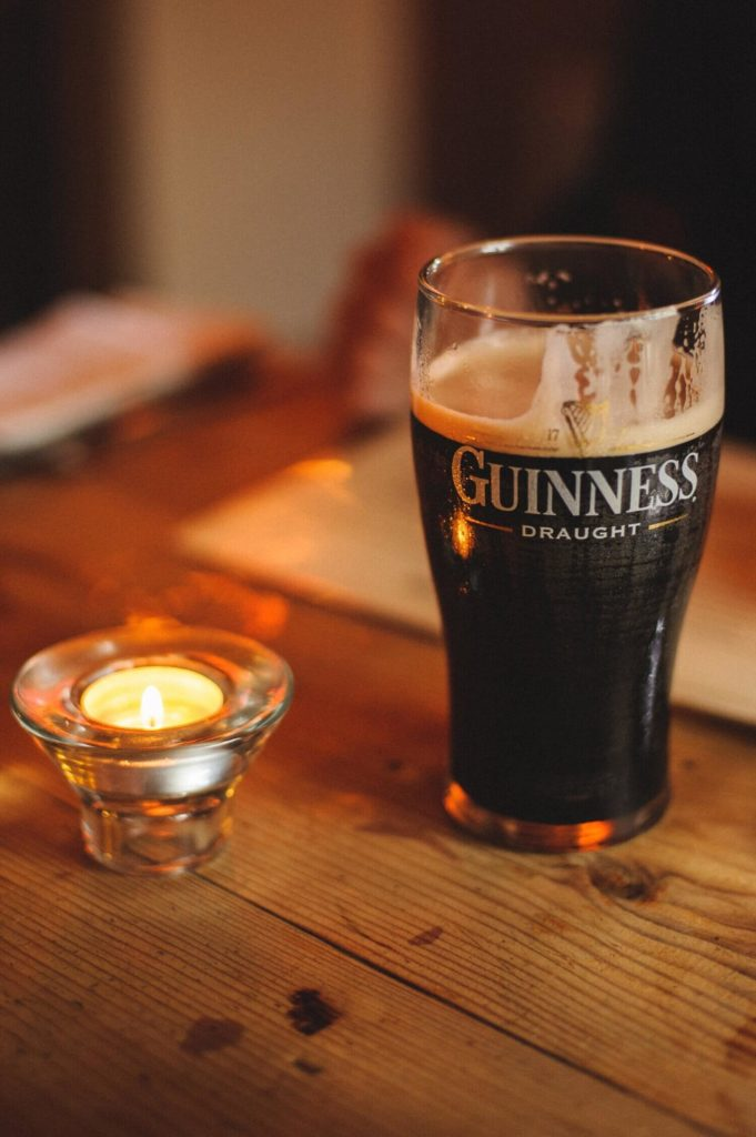 glass of Guinness Stout