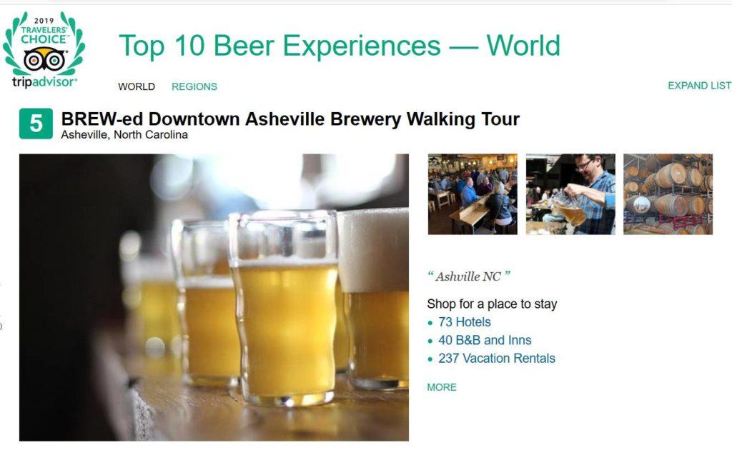TripAdvisor Brewery Tour Award